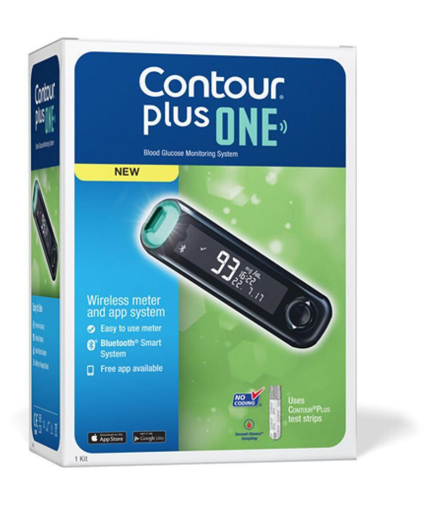 Bayer Contour Plus One With 25 Strip The Smart Glucometer Suraj Easy Touch Glucose 1