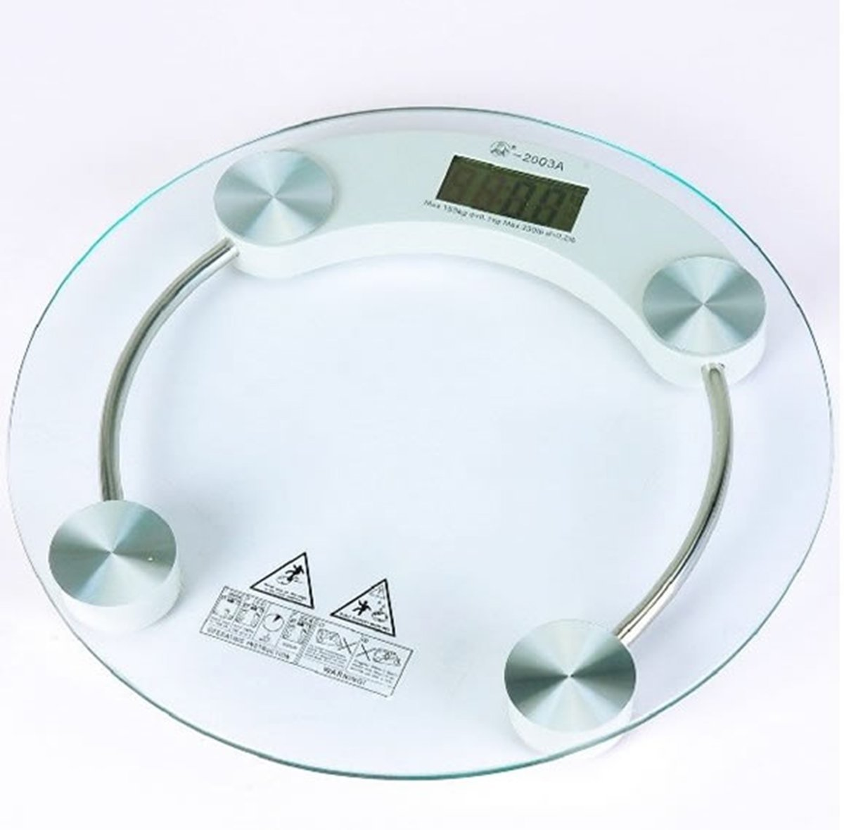 venus thick tempered glass body round digital weighing scale